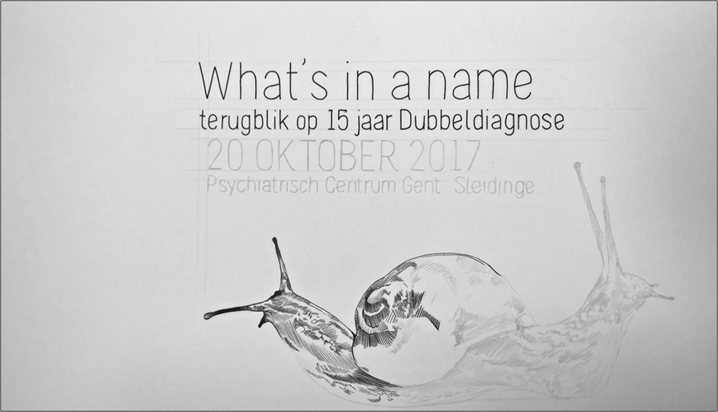"""Save the date: 20 oktober! """"What's in a name? – Symposium over Dubbeldiagnose"""""""